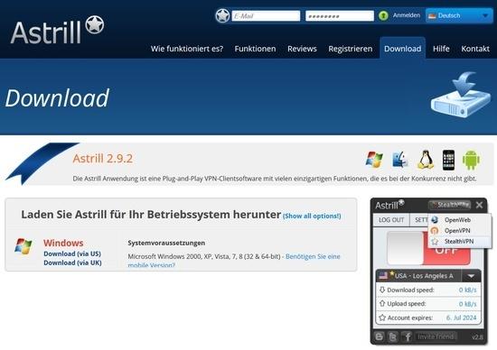 Astrill VPN Download